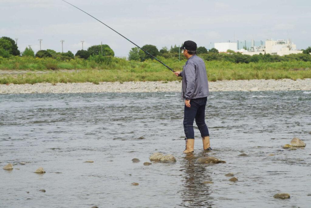 フラミンゴ釣り
