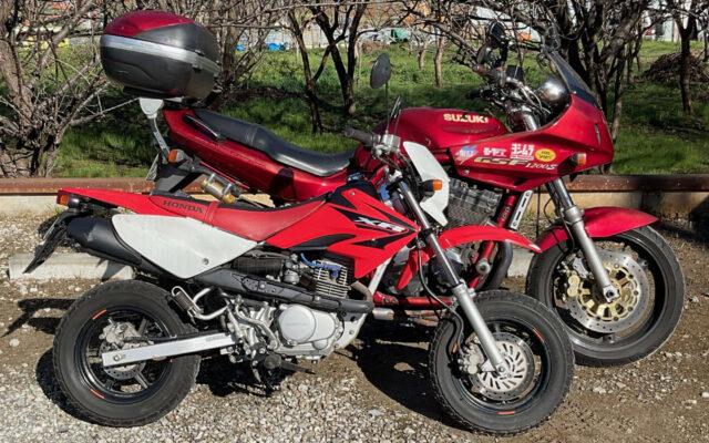 GSF1200SとXR100モタード