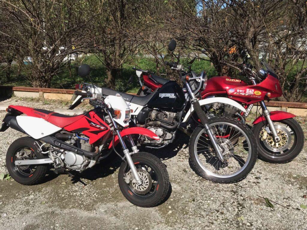 3台のバイク