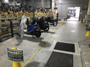 駅地下の自転車等駐車場