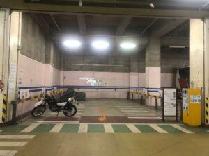 山下公園のバイク駐車場