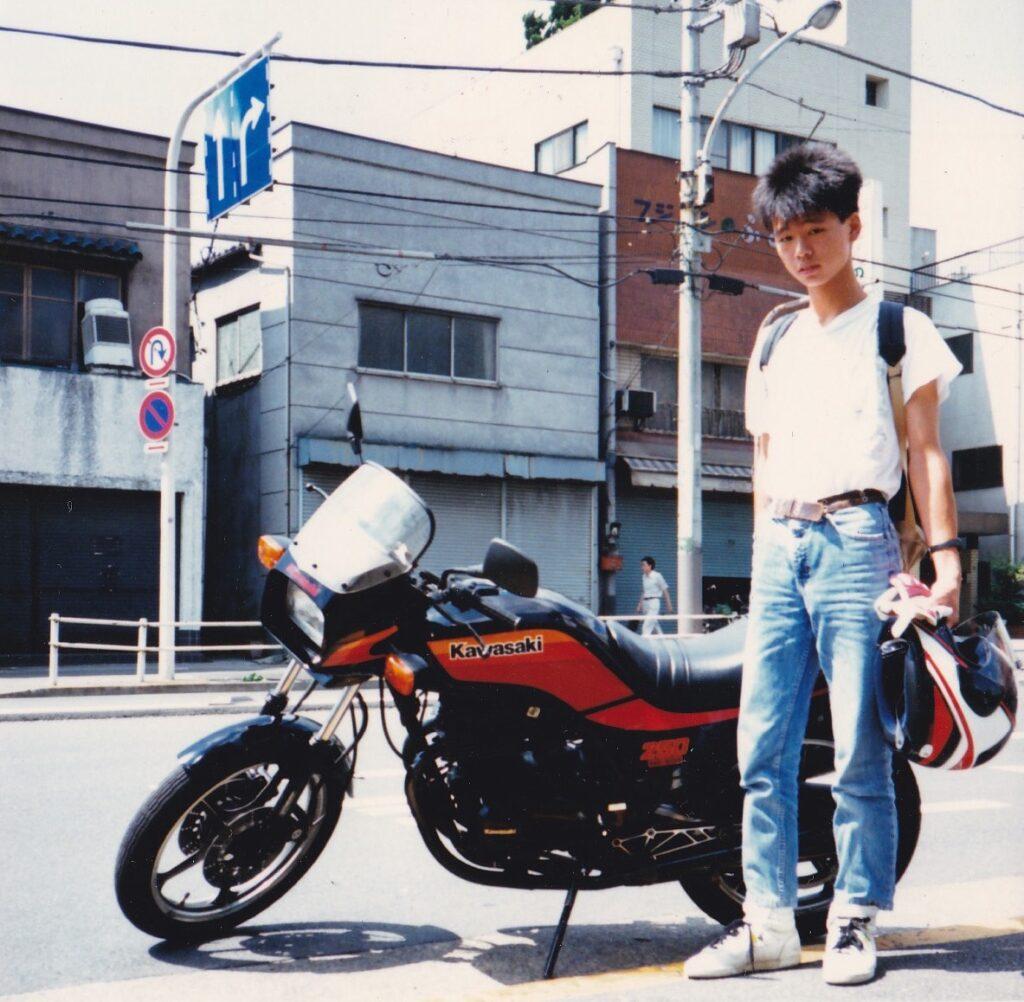 カワサキGPZ250ベルトドライブ