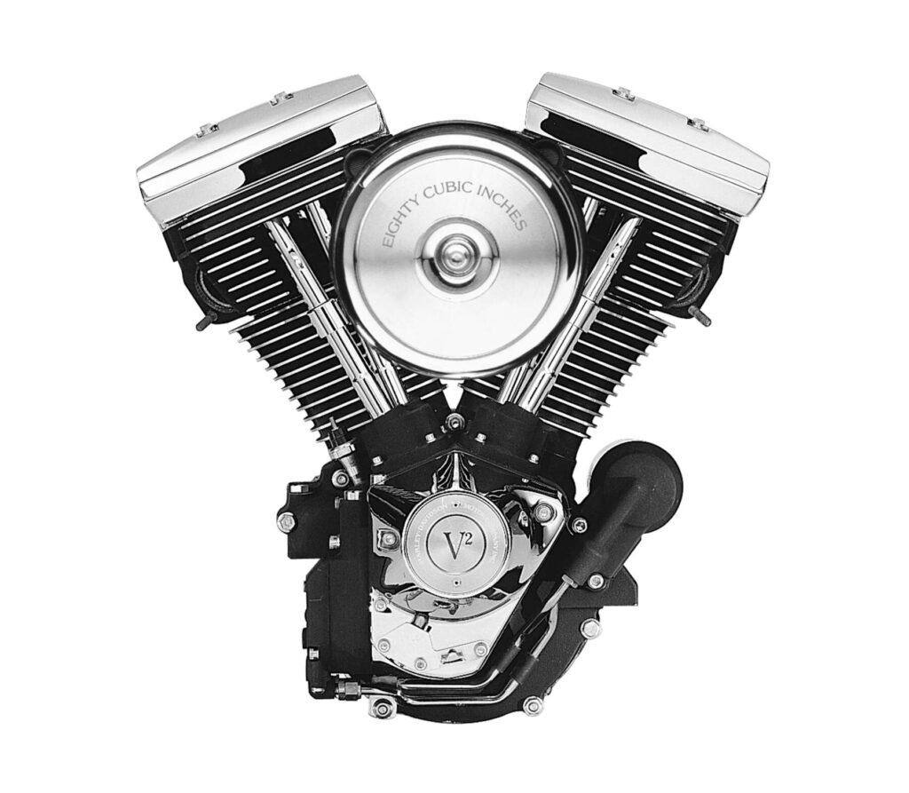 ハーレーダビッドソン エボリューシンエンジン、通称「エボ」。