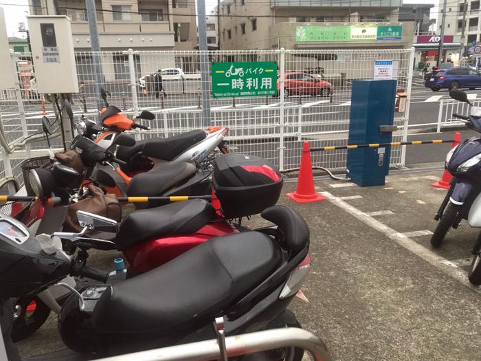 横浜市のバイクパーキング