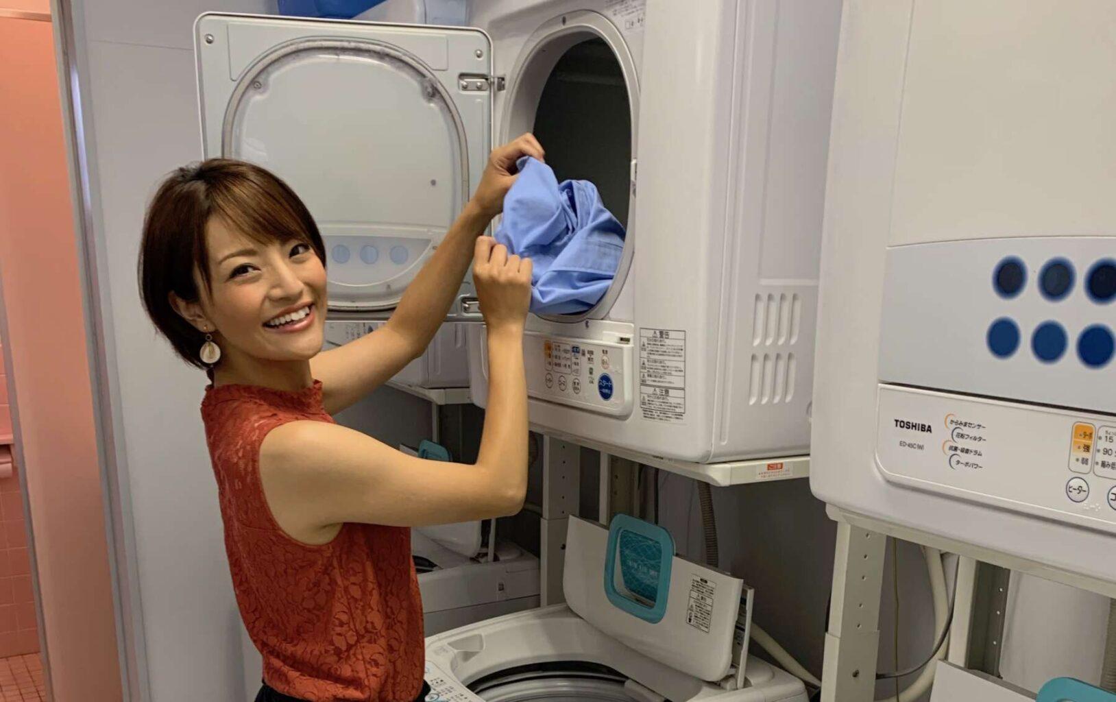 無料の洗濯機と乾燥機